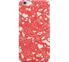 Valentine's Day Seamless Pattern. Background for decoration iPhone Case/Skin
