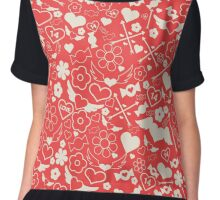 Valentine's Day Seamless Pattern. Background for decoration Chiffon Top