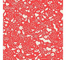 Valentine's Day Seamless Pattern. Background for decoration Photographic Print