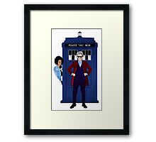 The Doctor and Bill Framed Print