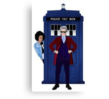 The Doctor and Bill Canvas Print