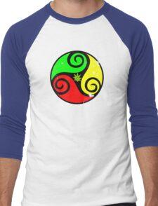 Grunge Reggae Love Vibes - Cool Weed Cannabis Reggae Rasta T-Shirt NoteBooks Stickers Men's Baseball ¾ T-Shirt