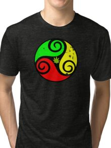 Grunge Reggae Love Vibes - Cool Weed Cannabis Reggae Rasta T-Shirt NoteBooks Stickers Tri-blend T-Shirt