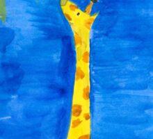 a dreaming giraffe Sticker