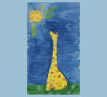a dreaming giraffe One Piece - Short Sleeve