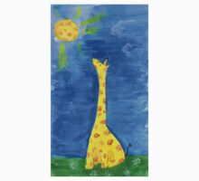 a dreaming giraffe One Piece - Short Sleeve