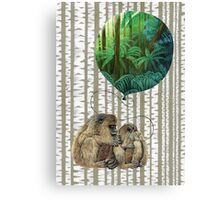 Balloon Monkey dream Canvas Print