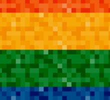 Rainbow Pixel Flag Sticker