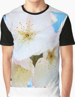 White Cherry Blossoms Graphic T-Shirt
