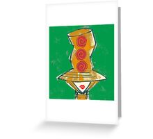 Big hat red lips 2 Greeting Card
