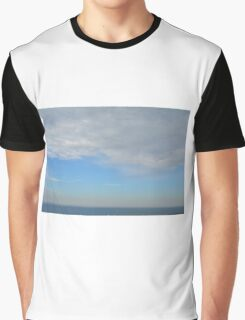 Cloudy sky above the sea. Graphic T-Shirt