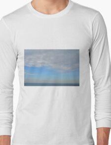 Cloudy sky above the sea. Long Sleeve T-Shirt