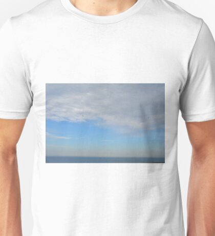 Cloudy sky above the sea. Unisex T-Shirt