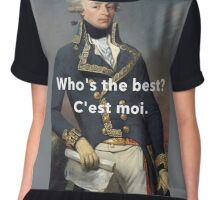 America's Favorite Fighting Frenchman Chiffon Top