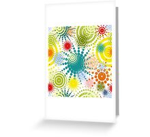 colorful abstract seamless pattern Greeting Card