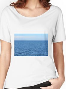 Calm blue sea and clear sky. Women's Relaxed Fit T-Shirt