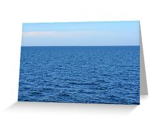Calm blue sea and clear sky. Greeting Card