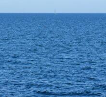 Calm blue sea and clear sky. Sticker