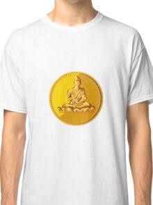 Buddha Gold Coin Medallion Retro Classic T-Shirt