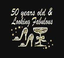 50 YEARS OLD AND LOOKING FABULOUS Women's Fitted Scoop T-Shirt