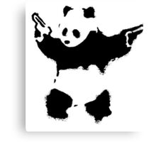 Banksy - Panda With Guns Canvas Print