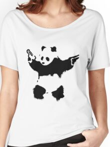 Banksy - Panda With Guns Women's Relaxed Fit T-Shirt