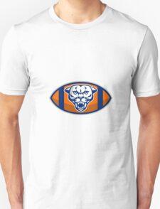 Cougar Mountain Lion Football Ball Retro T-Shirt