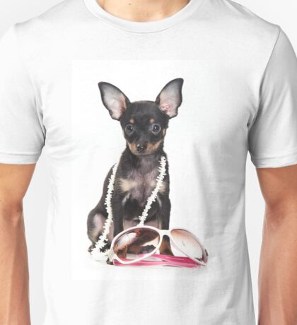 Glamorous cute puppy dog toy terrier Unisex T-Shirt
