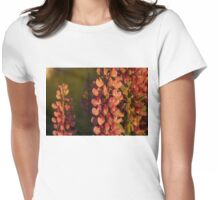 Hot Pink Lupines From My Mother's Garden - Take 2 Womens Fitted T-Shirt