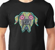 Great Dane - Floppy Ear Edition - Day of the Dead Sugar Skull Dog Unisex T-Shirt