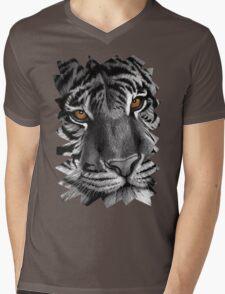 Siberian Tiger Mens V-Neck T-Shirt