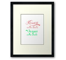 Kawaii on the streets Framed Print