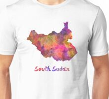 South Sudan in watercolor Unisex T-Shirt