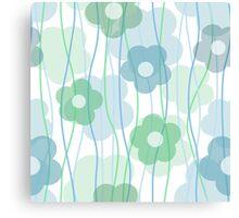 Beautiful transparent blue flower print Canvas Print