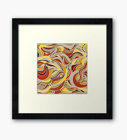 Brown waves Framed Print