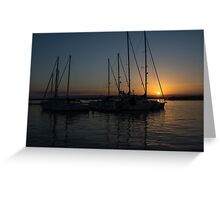 Sicilian Sunset at the Syracuse Harbour  Greeting Card