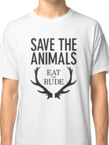 Hannibal- Save animals eat the rude Classic T-Shirt