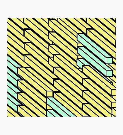 Geo Diagonal Bars Photographic Print