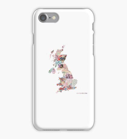 United Kingdom map iPhone Case/Skin