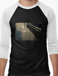Silky Zigzags and Swirls - a Waterfront Abstract Men's Baseball ¾ T-Shirt