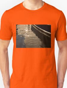Silky Zigzags and Swirls - a Waterfront Abstract T-Shirt