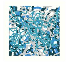 Blue Tones 2 Abstract Pattern  Art Print