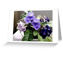 PURPLE FLOWERS COLLECTION Greeting Card