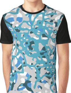 Blue Tones 2 Abstract Pattern  Graphic T-Shirt