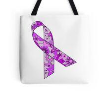 Purple ribbon Tote Bag