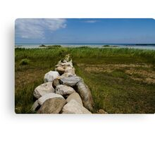Stone Wall Perspective  Canvas Print