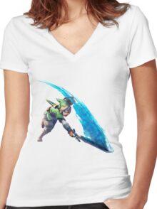 Zelda, link Women's Fitted V-Neck T-Shirt