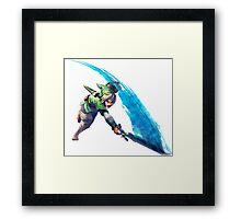 Zelda, link Framed Print