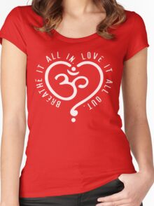 Yoga Breathe Women's Fitted Scoop T-Shirt