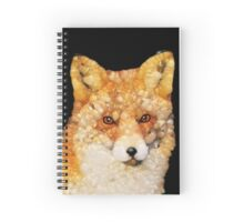 Red Fox Abstract Spiral Notebook